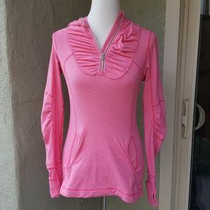 Lululemon Pink Long Sleeve Jacket with Hood